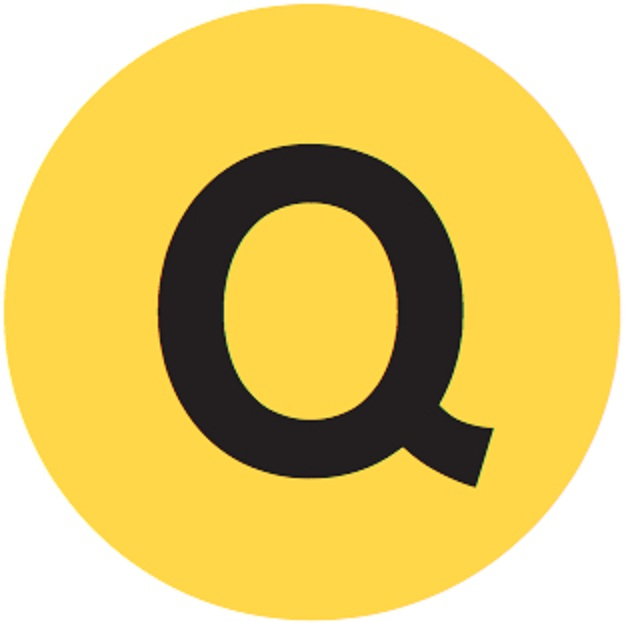 Q train subway logo